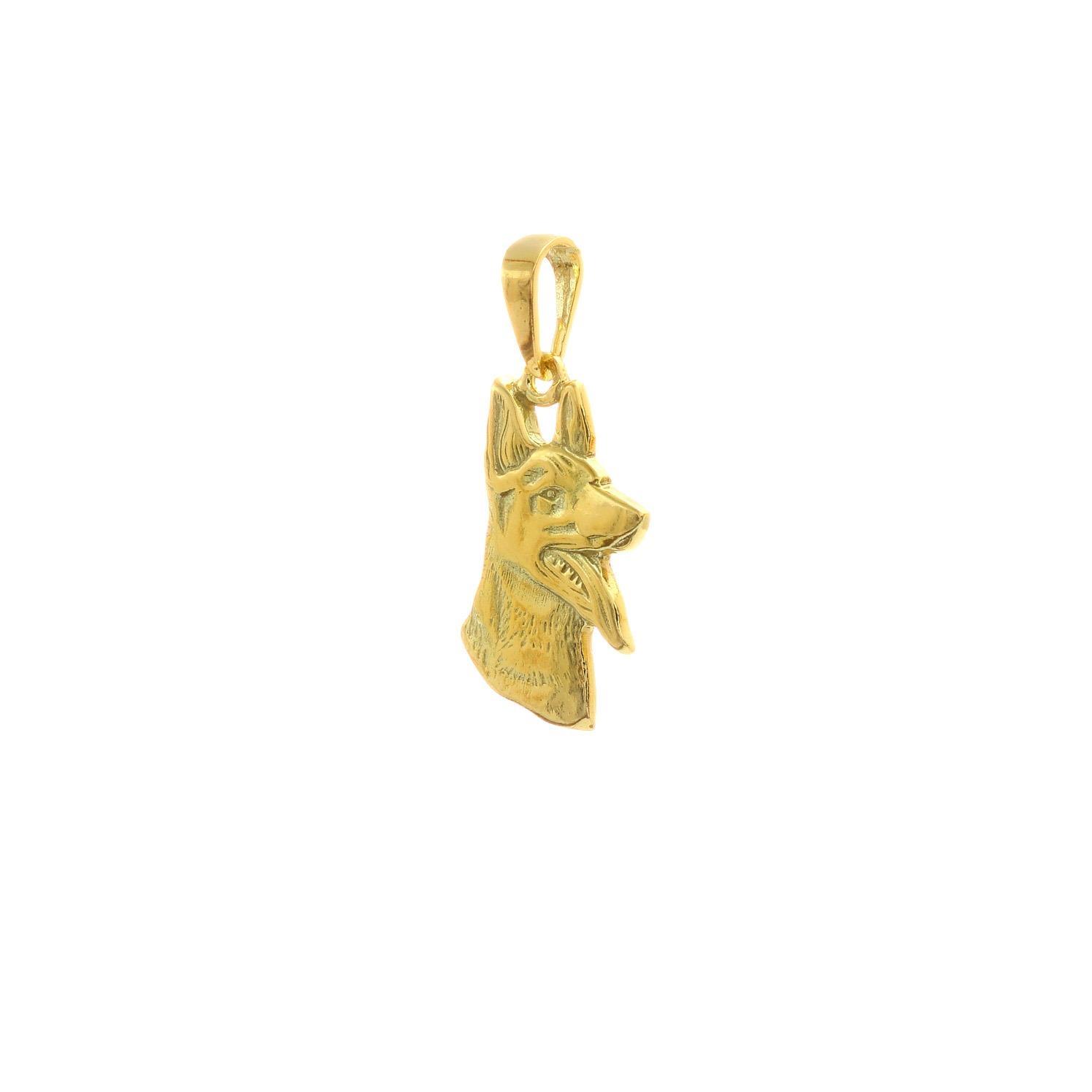 Zlatý prívesok VLČIAK 3VZ00283