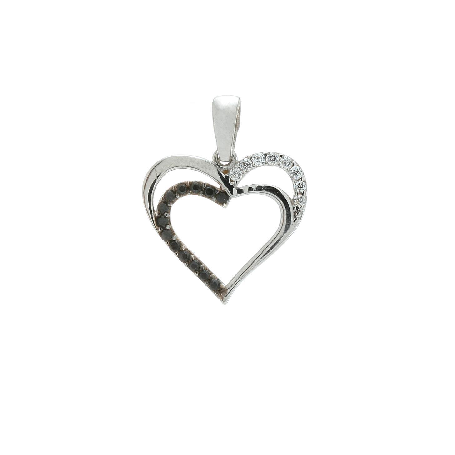 Zlatý prívesok WHITE HEART  1VB00398