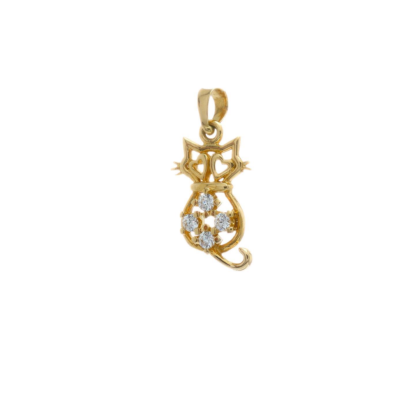 Zlatý prívesok ŽLTÁ MAČICKA 7VZ00429