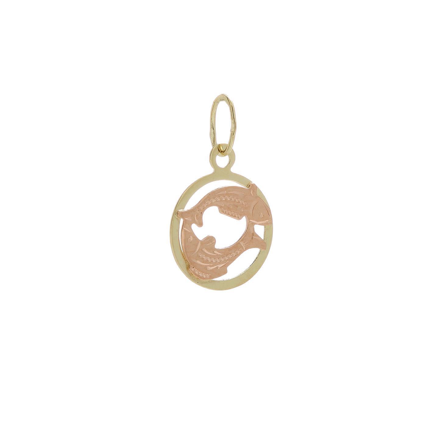 Zlatý prívesok znamenie ryby 2VK00134
