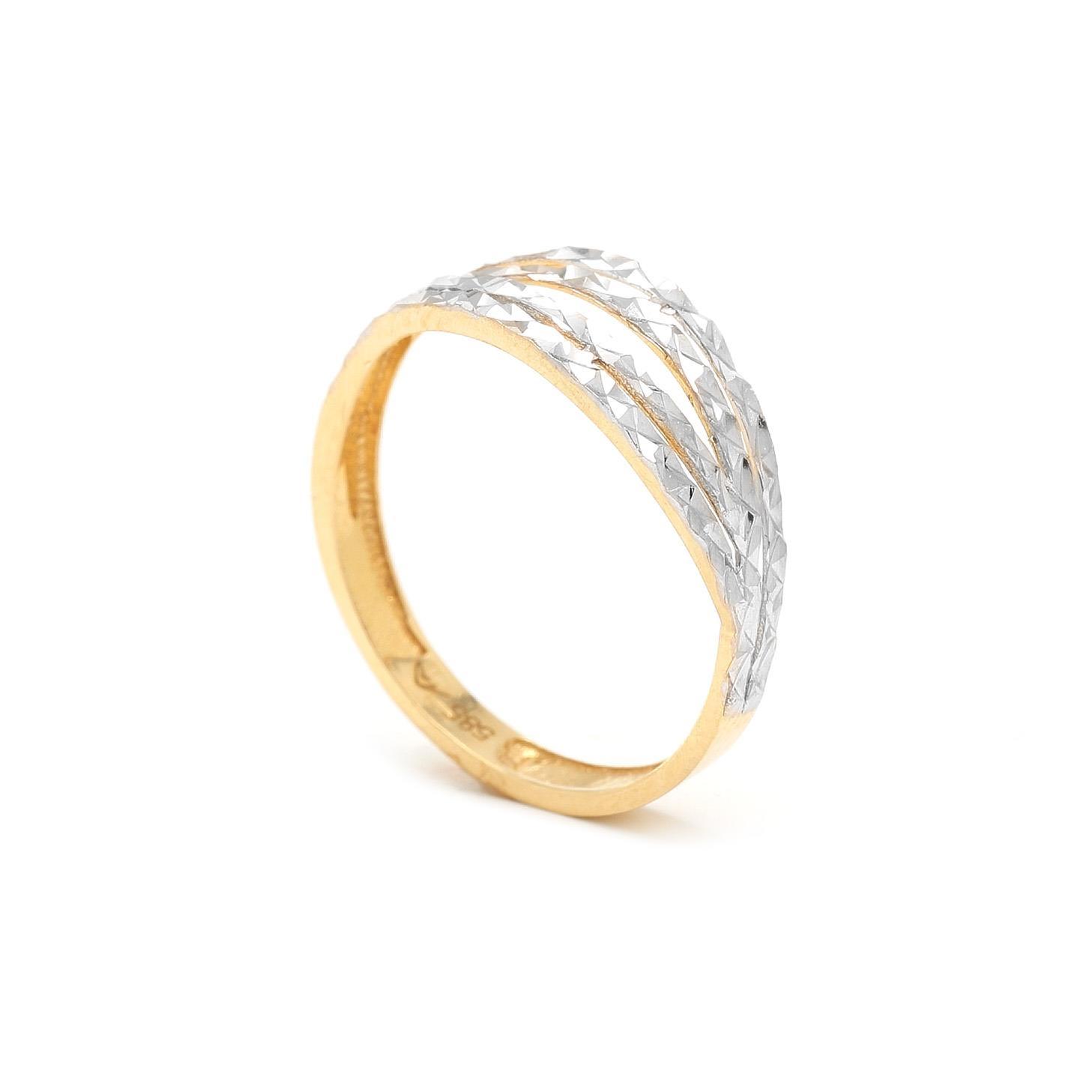 Zlatý prsteň LAHELA 7PK00383