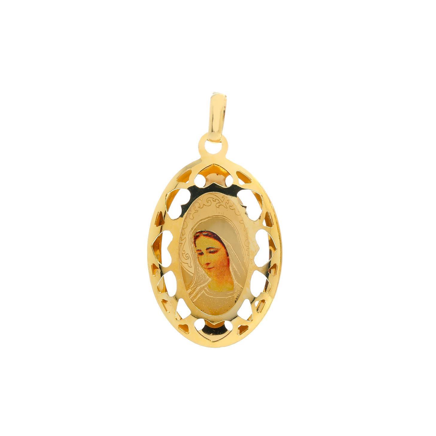 Zlatý veľký medailón Panny Márie Medžugorskej 10VS00454