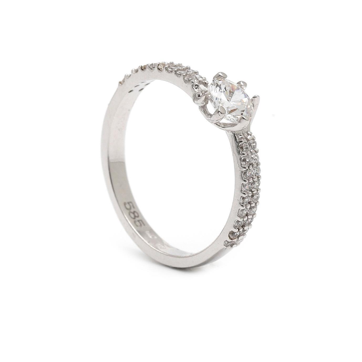 Zlatý zásnubný prsteň ALEKSANDRA 7PB00394_1