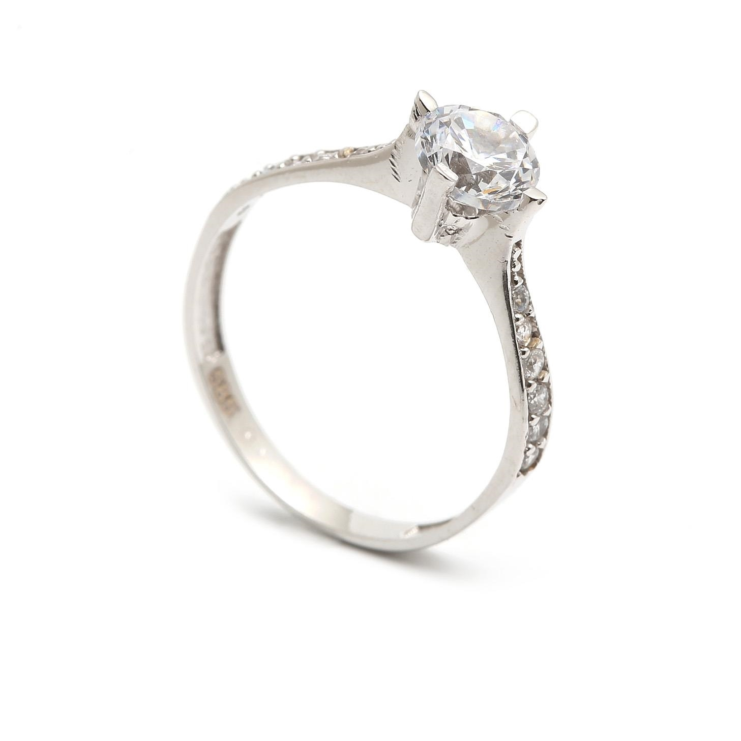 Zlatý zásnubný prsteň ALMUDENA 4PB00257
