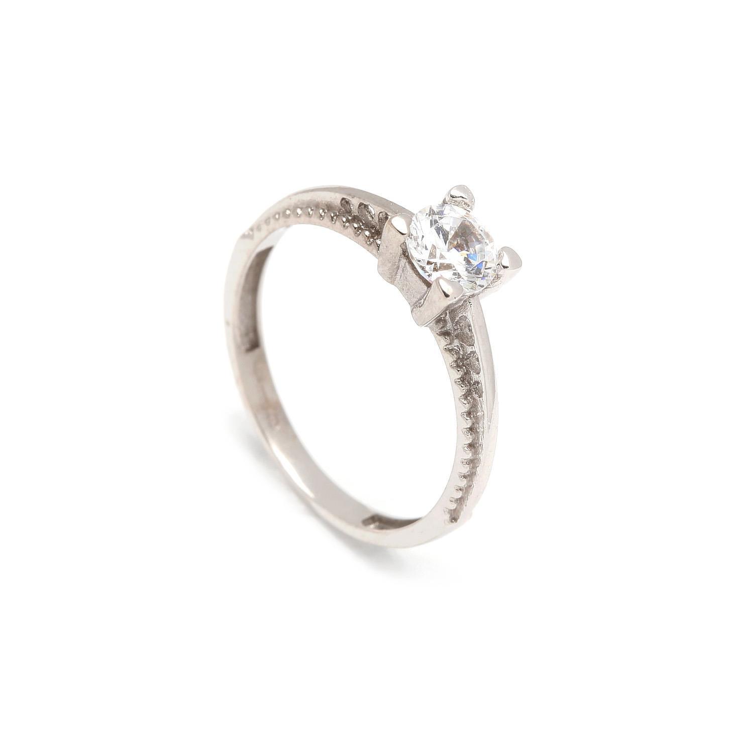 Zlatý zásnubný prsteň ALYSSUM white ce529ede0f3