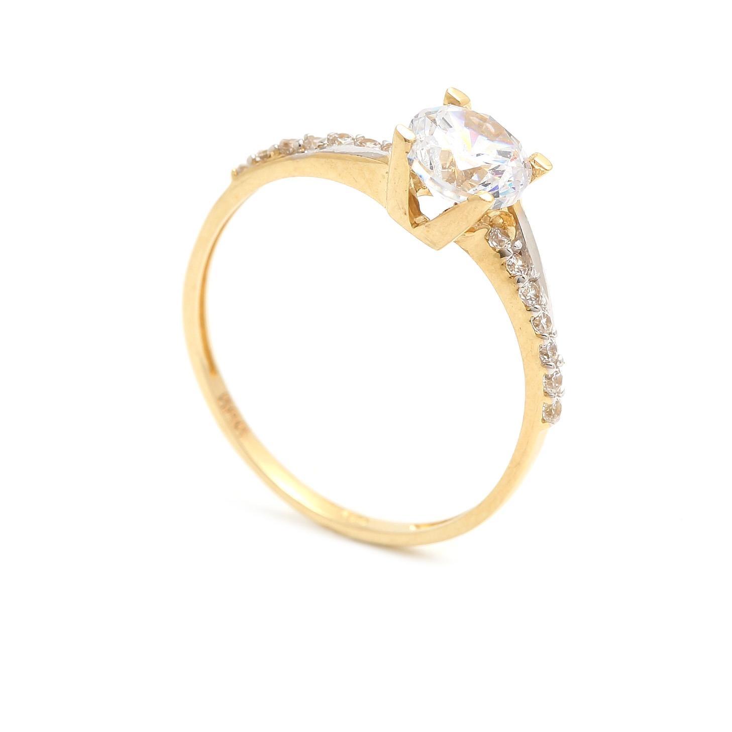 Zlatý zásnubný prsteň AMARANTA 4PZ00255