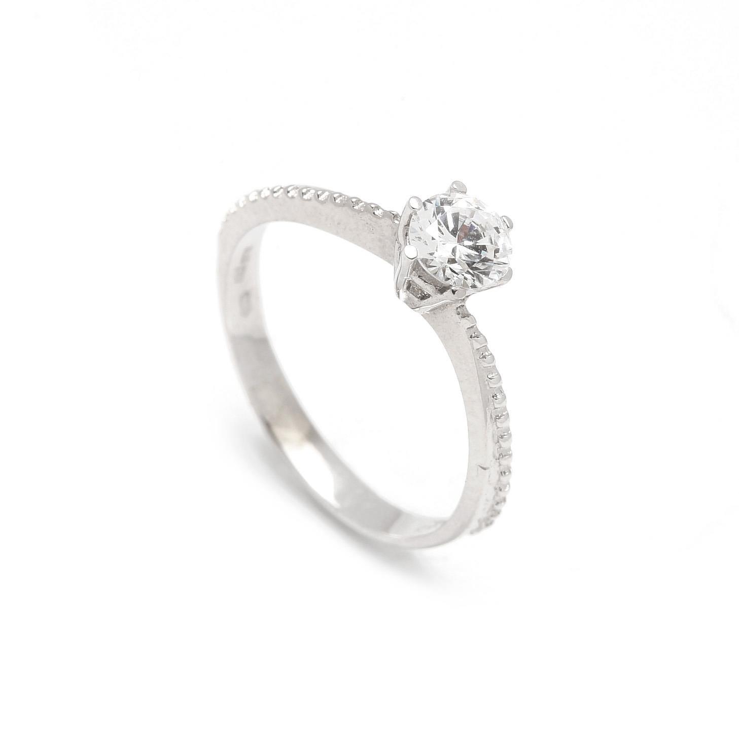Zlatý zásnubný prsteň AMARYLLIS white 366591250a9