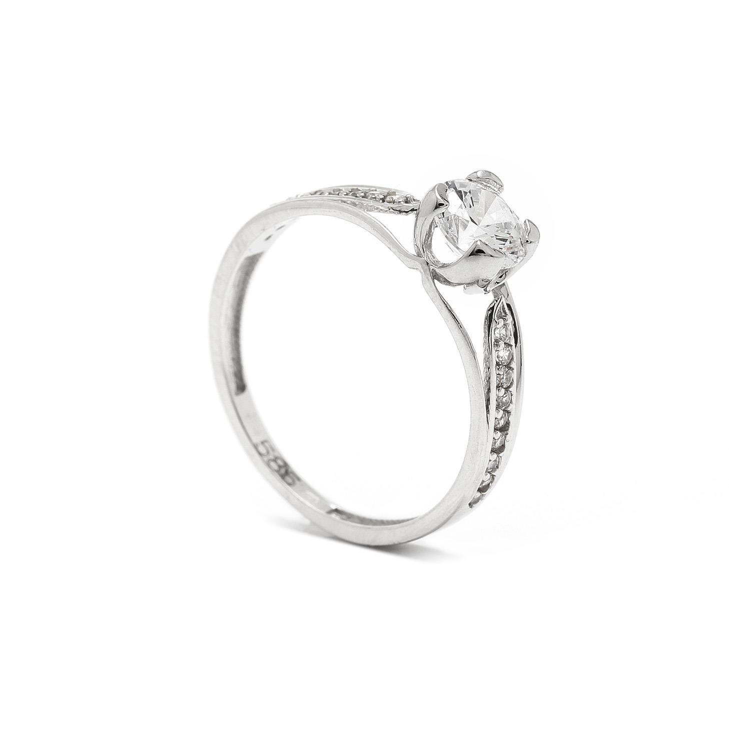 Zlatý zásnubný prsteň ANENA 7PB00406