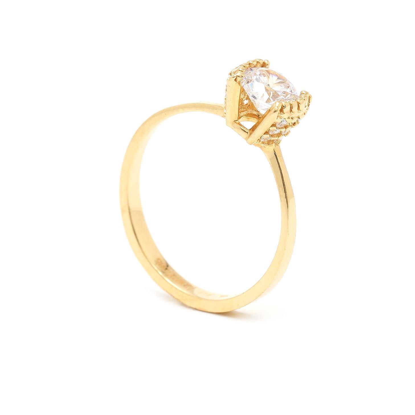 Zlatý zásnubný prsteň ANGELINE 7PZ00356
