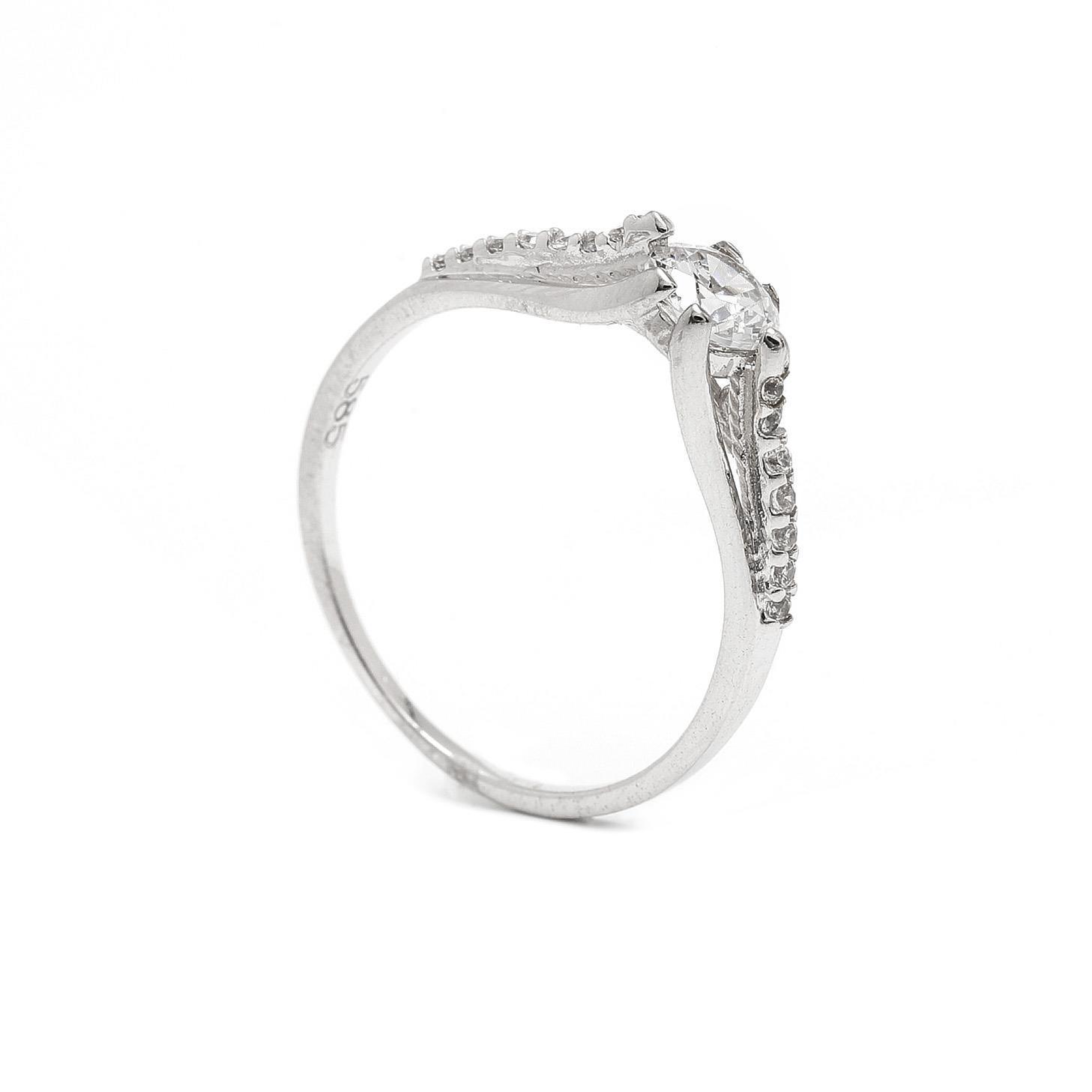 Zlatý zásnubný prsteň ANINA 7PB00407