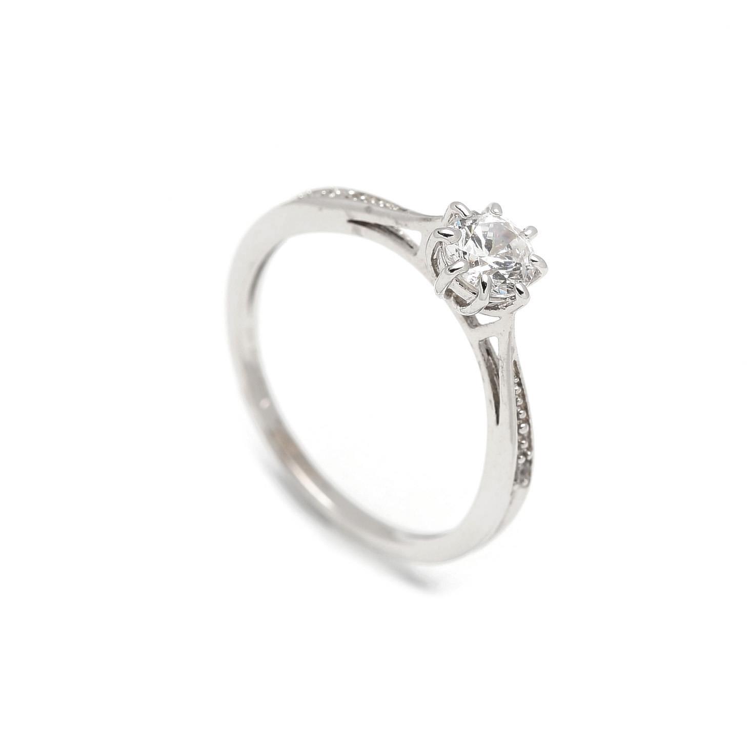 Zlatý zásnubný prsteň ASTERS white 2PB00103