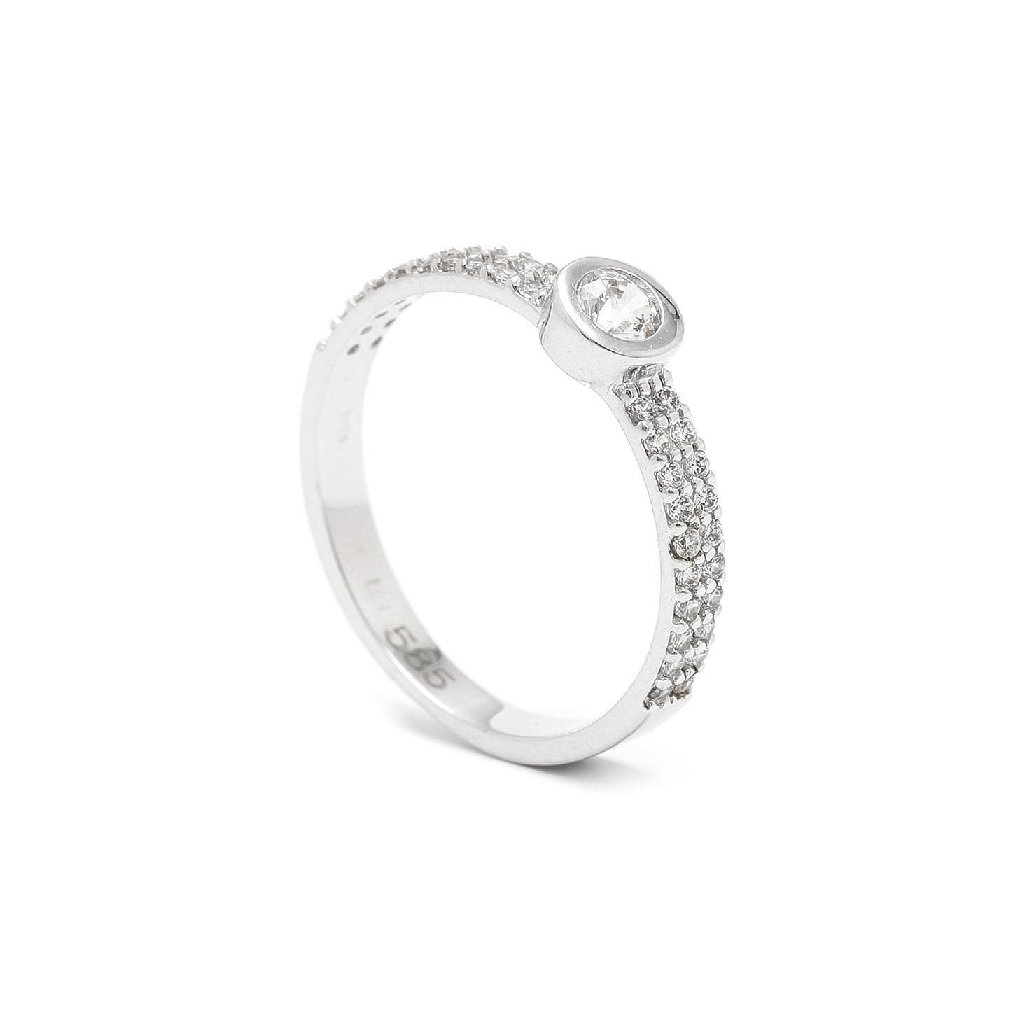 Zlatý zásnubný prsteň AZNIVA 7PB00413