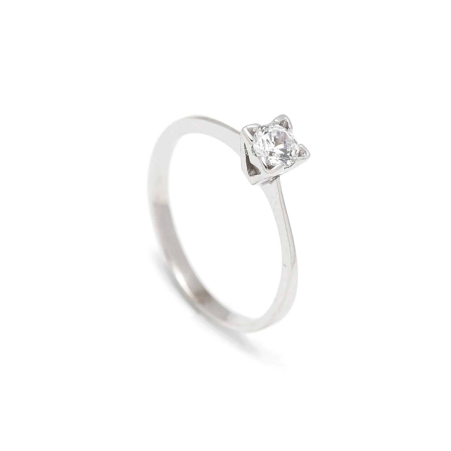 Zlatý zásnubný prsteň CALLA white 2PB00107
