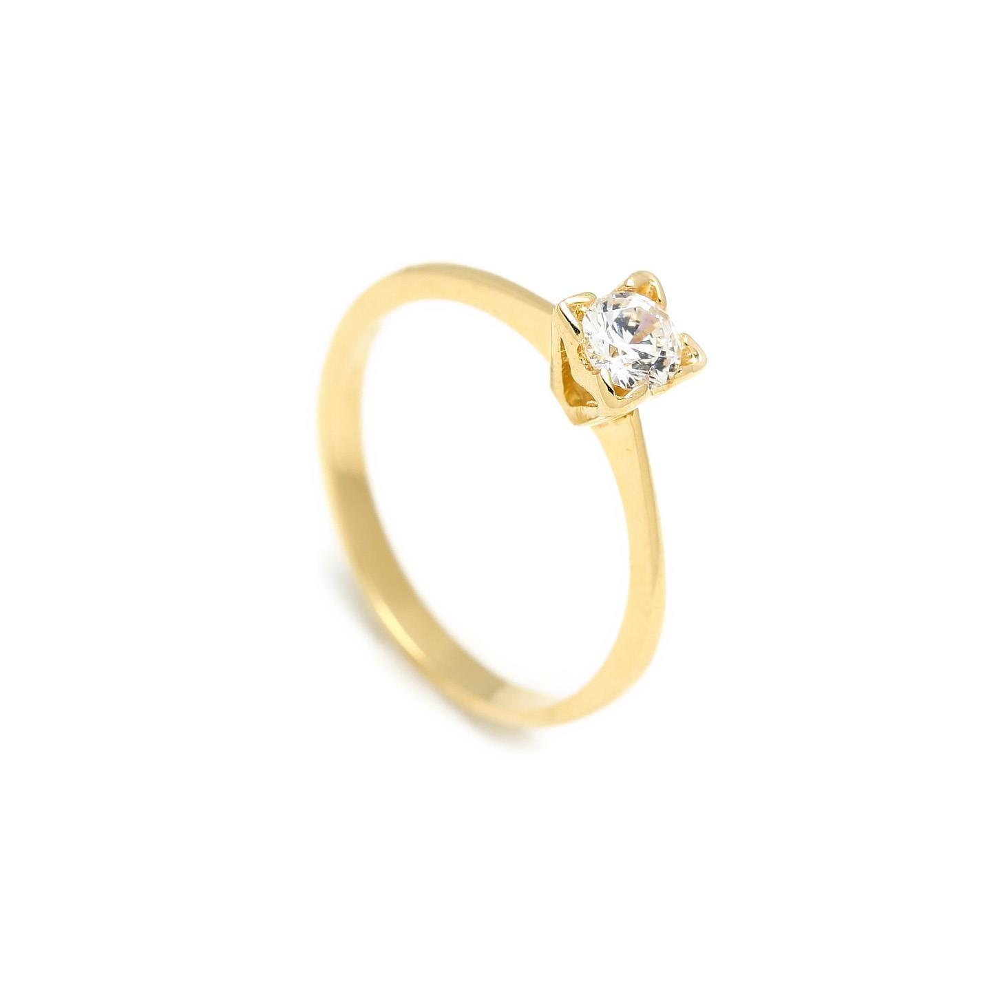 Zlatý zásnubný prsteň CALLA 2PZ00104
