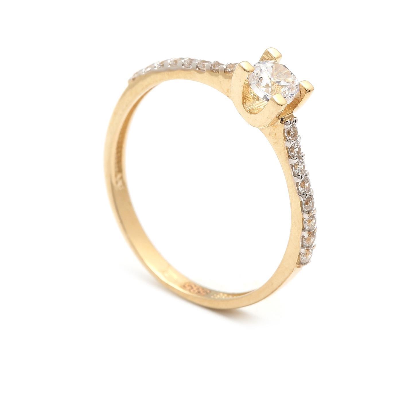Zlatý zásnubný prsteň CANDELAS 4PZ00258
