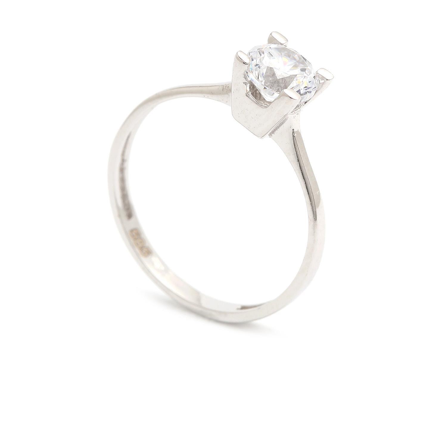 Zlatý zásnubný prsteň CARIDAD white 4PB00260