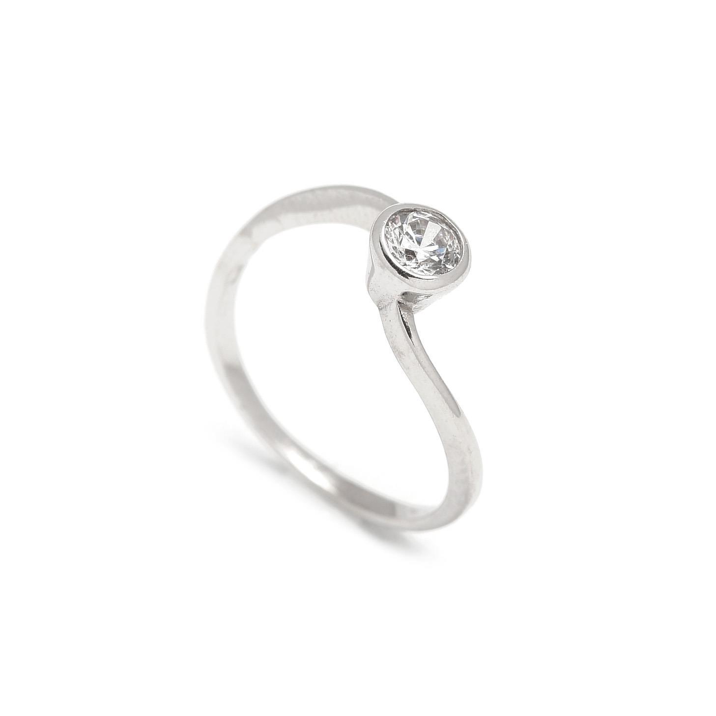 Zlatý zásnubný prsteň CELOSIA white 2PB00109