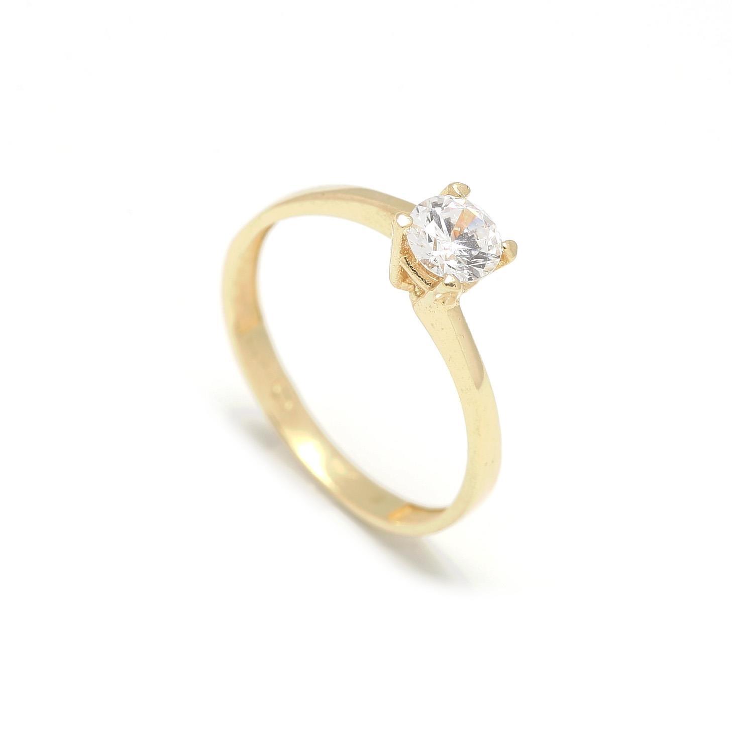 Zlatý zásnubný prsteň CLOVER 2PZ00112