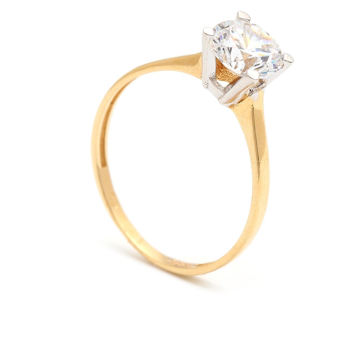 Zlatý zásnubný prsteň CONCHA 4PK00266