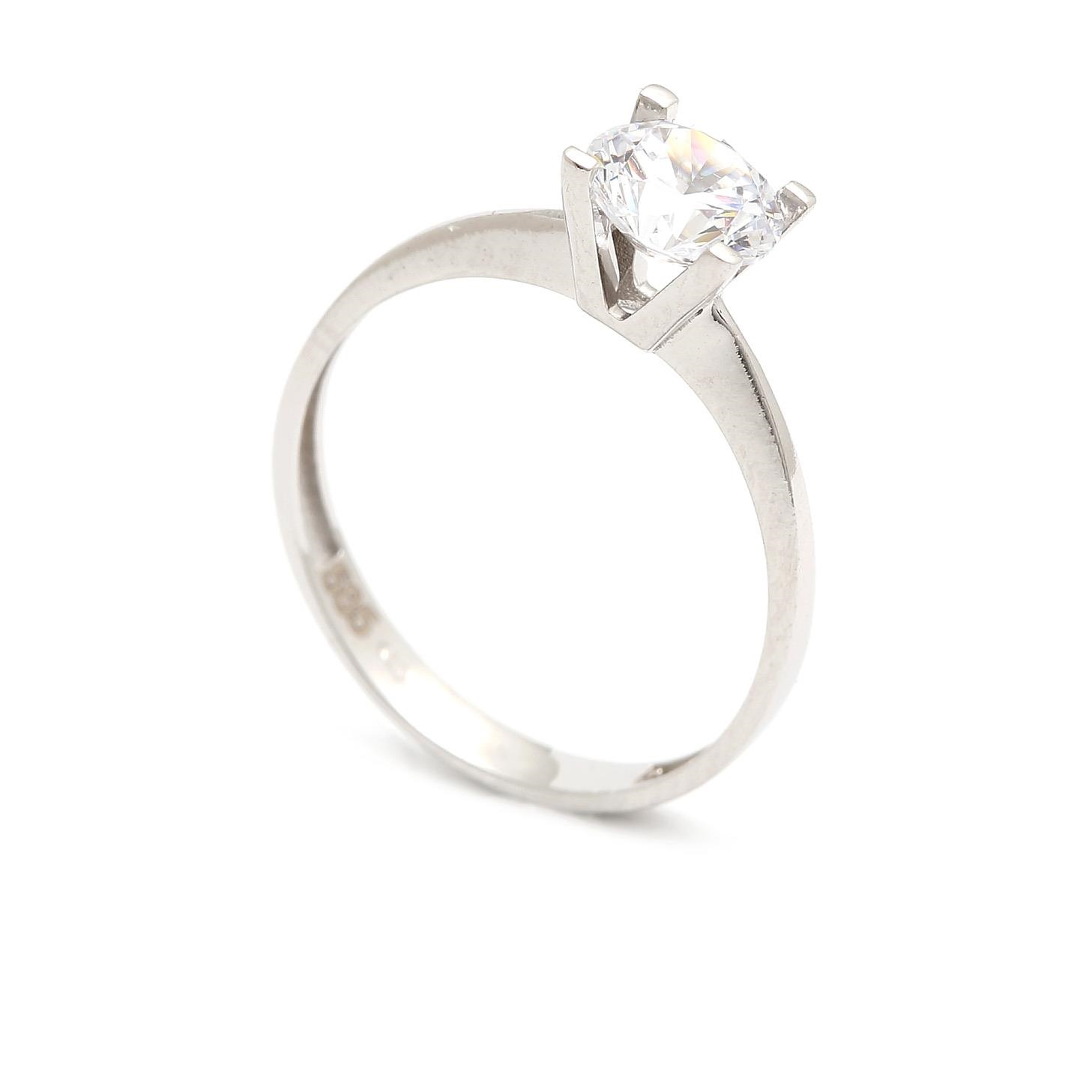 Zlatý zásnubný prsteň CONCHITA white 4PB00268