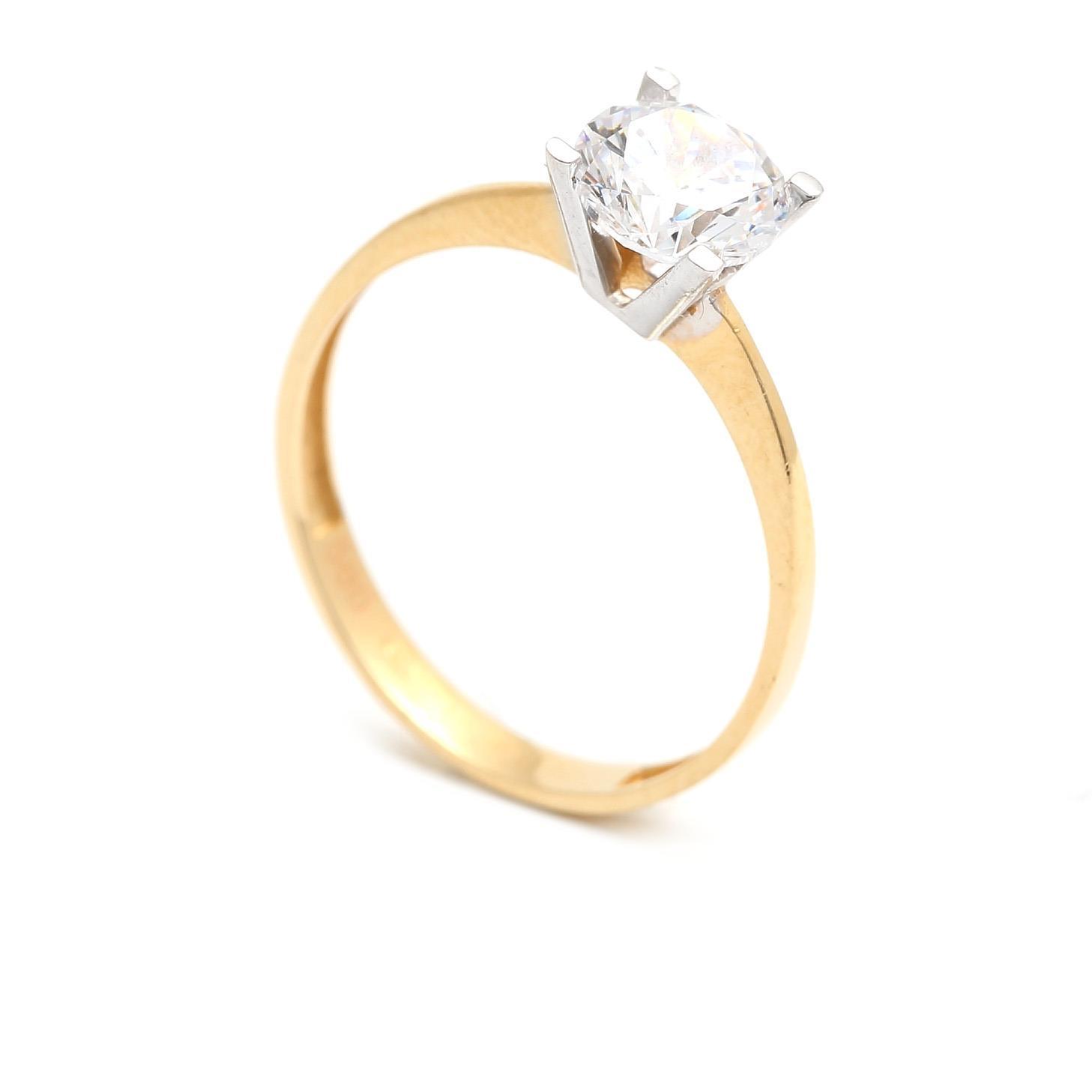 Zlatý zásnubný prsteň CONCHITA 4PK00267