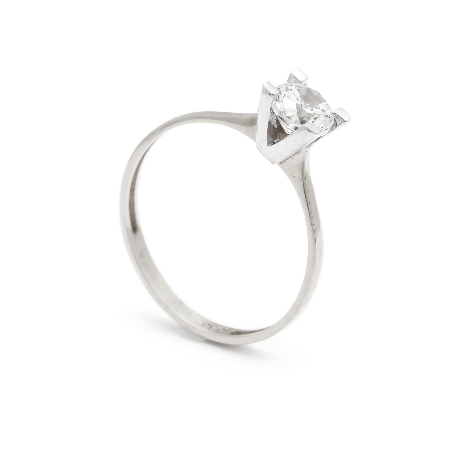 Zlatý zásnubný prsteň CONSUELA white 4PB00270