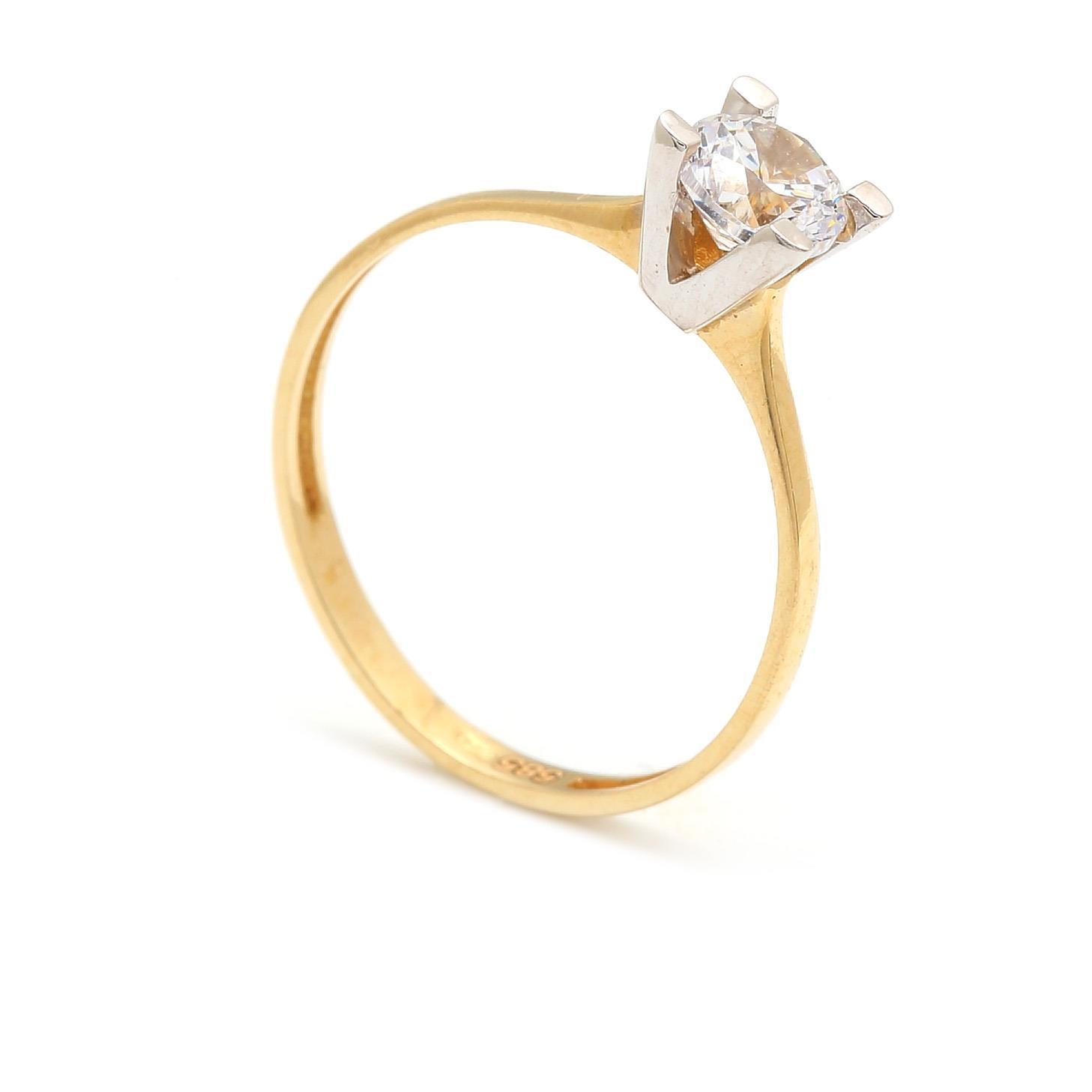 Zlatý zásnubný prsteň CONSUELA 4PK00269