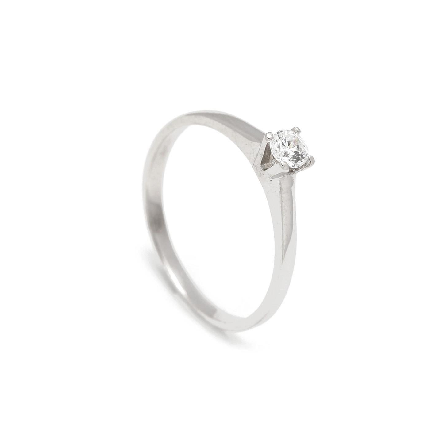 Zlatý zásnubný prsteň COSMOS white 2PB00115