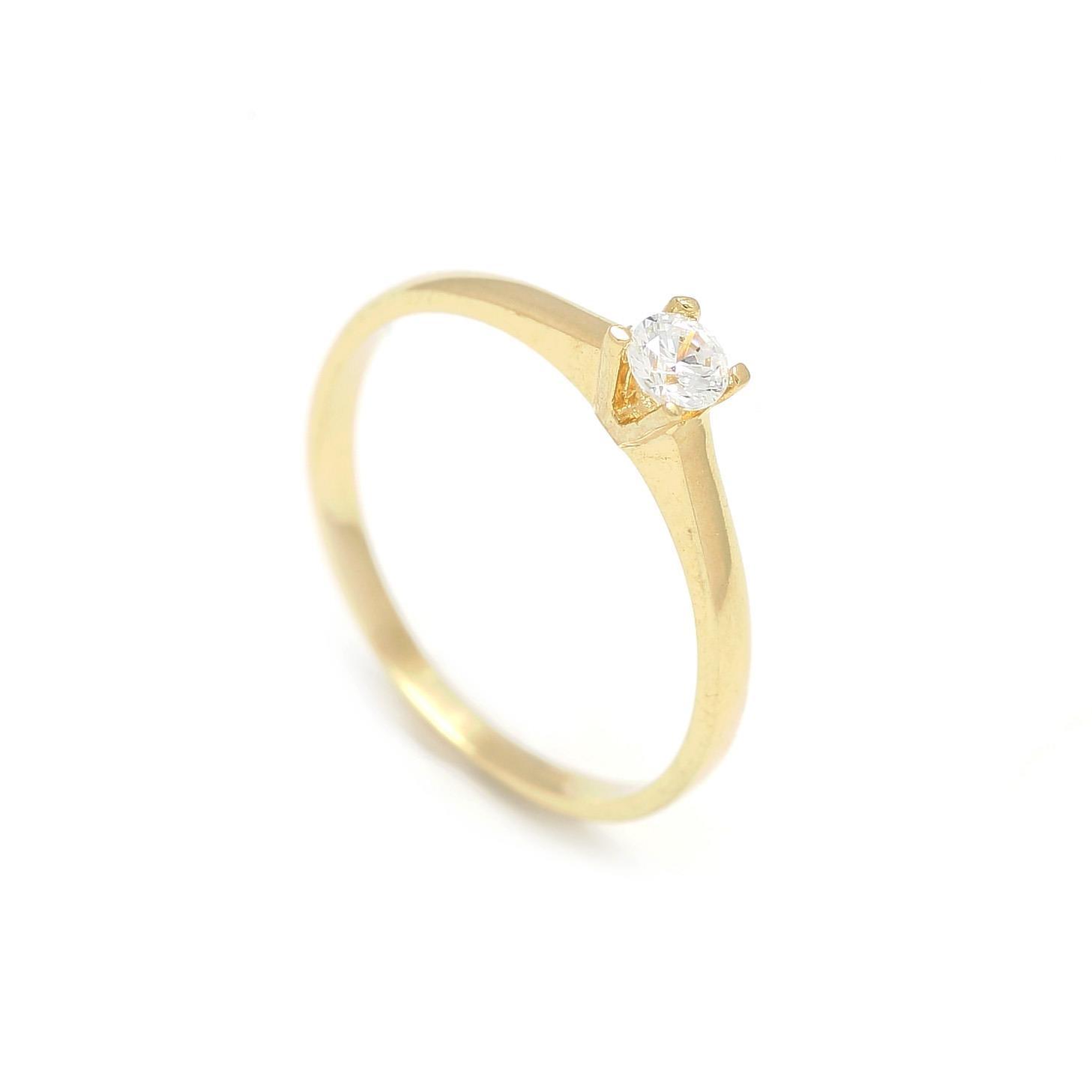 Zlatý zásnubný prsteň COSMOS 2PZ00114