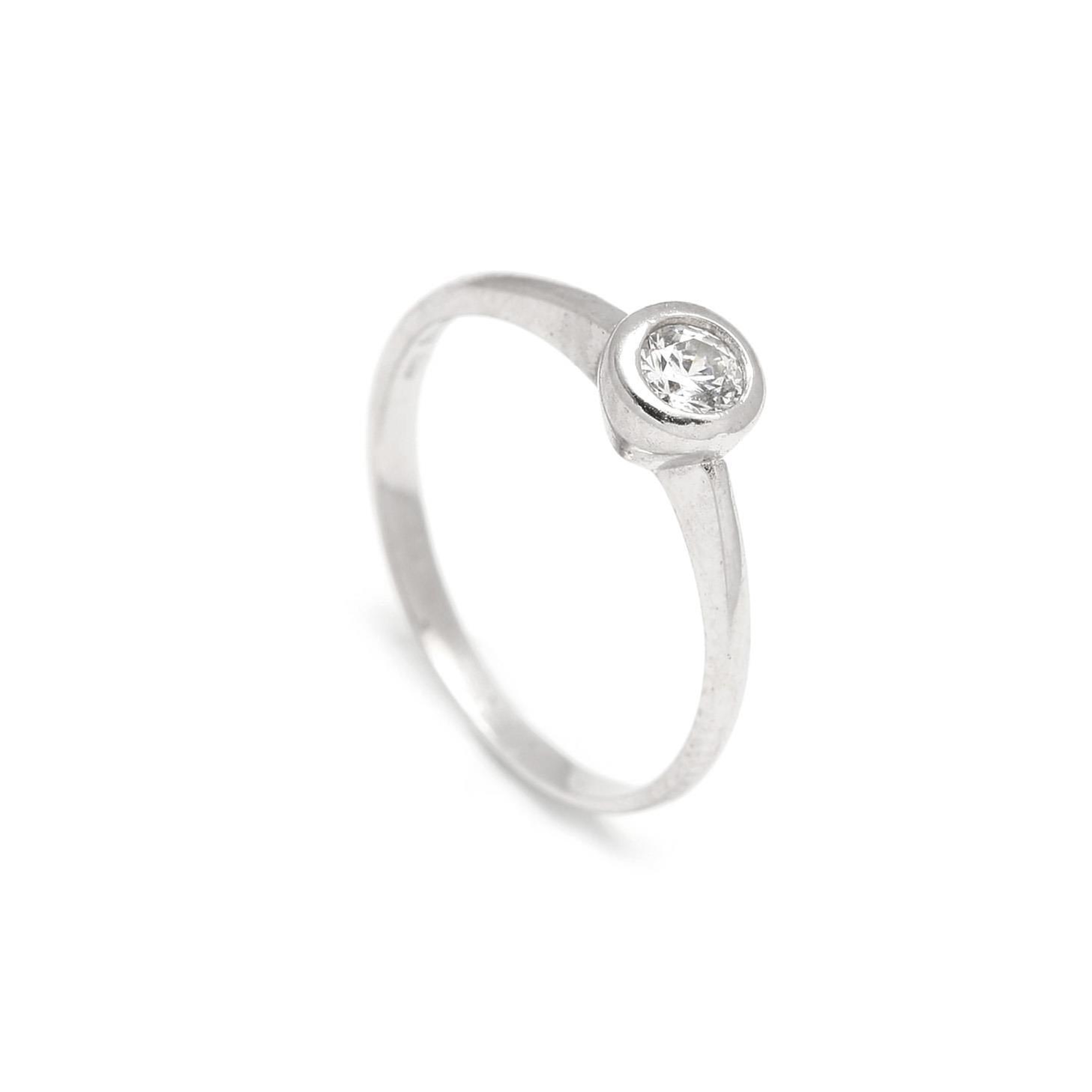 Zlatý zásnubný prsteň DAHLIA white 2PB00117