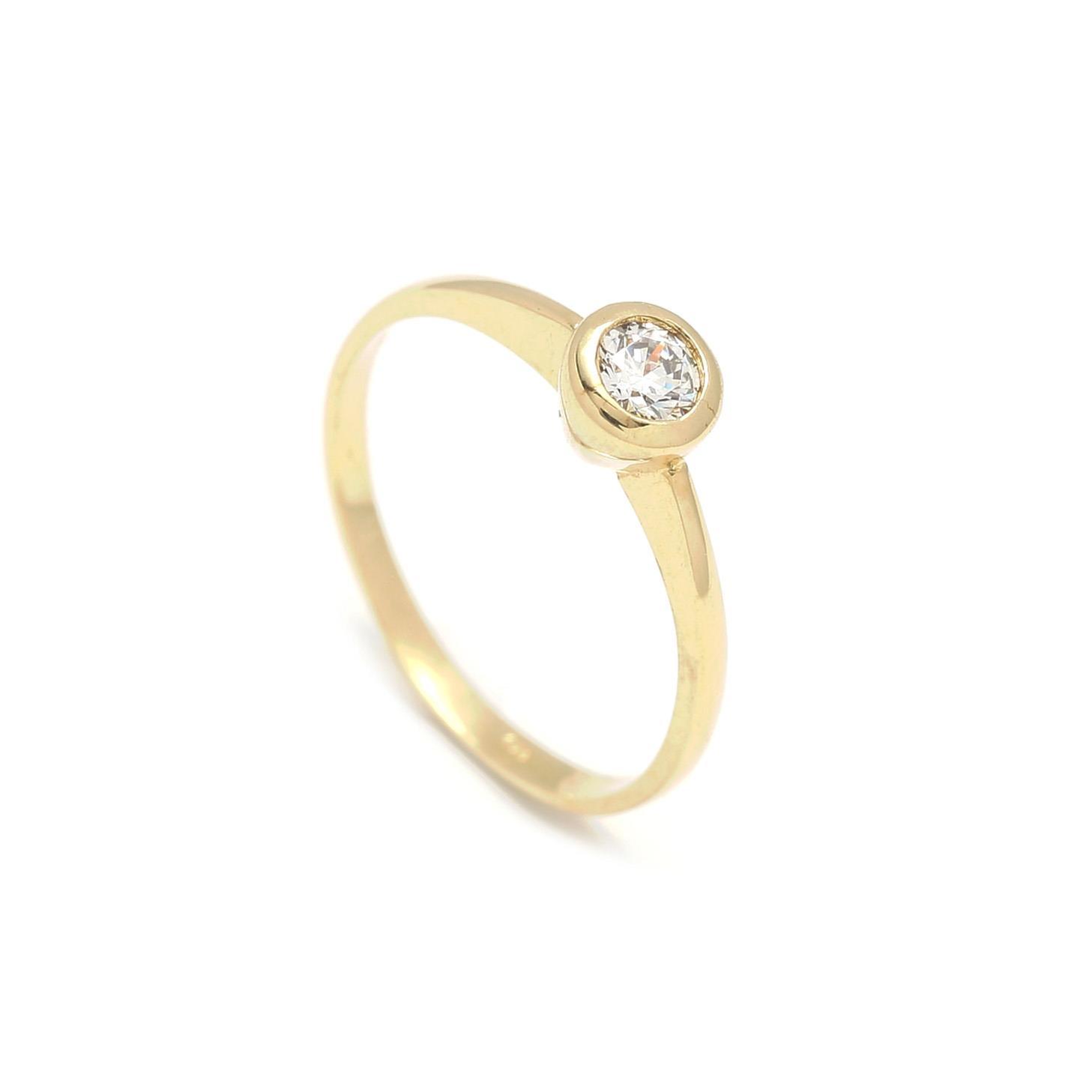 Zlatý zásnubný prsteň DAHLIA 2PZ00116
