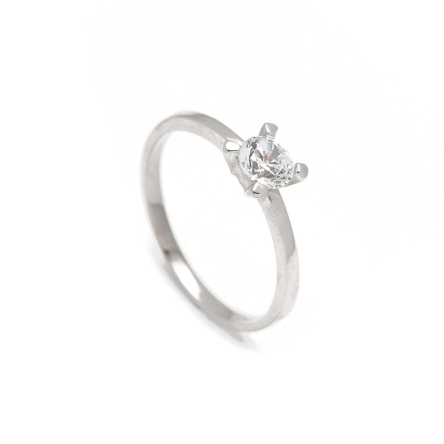 Zlatý zásnubný prsteň DAISY white 2PB00119