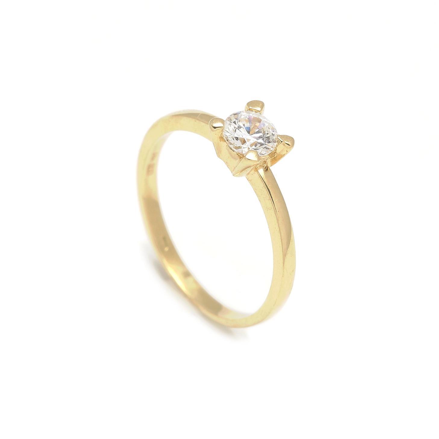 Zlatý zásnubný prsteň DAISY 2PZ00118