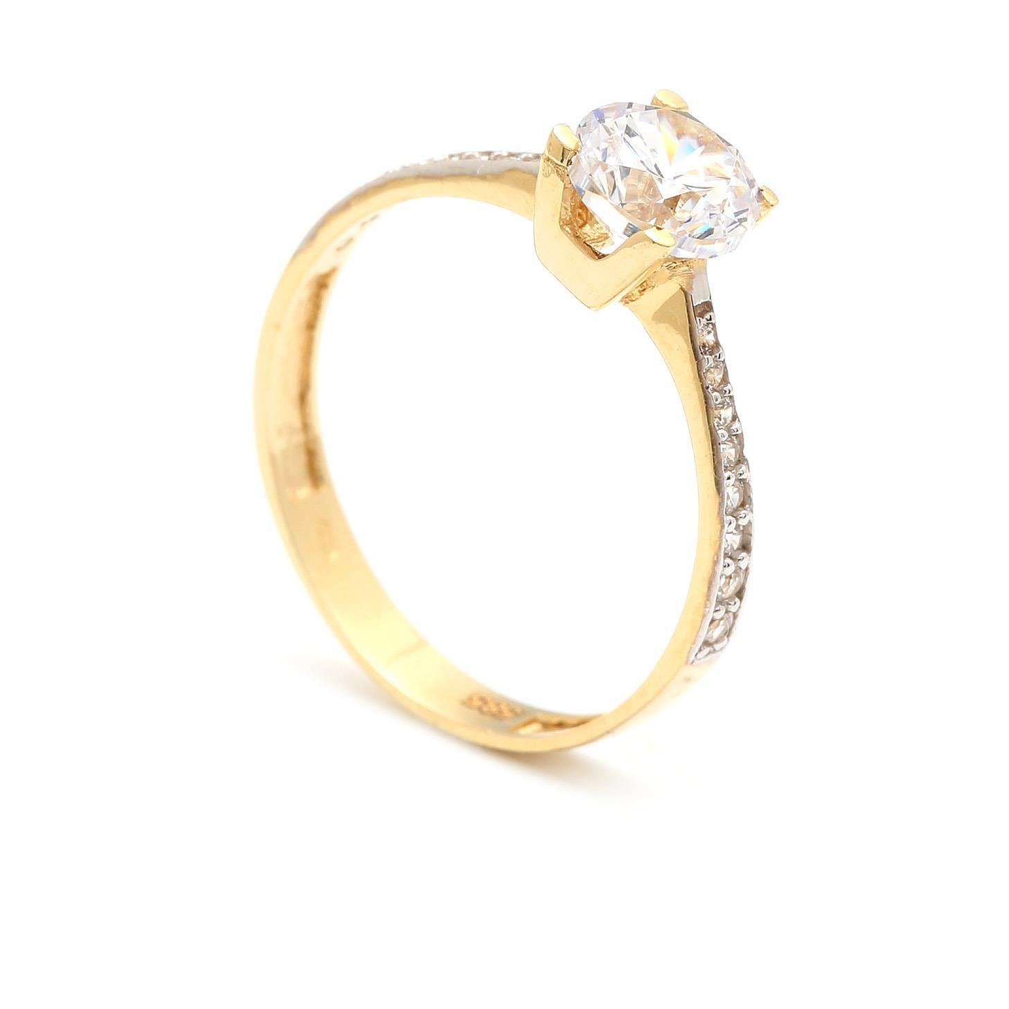 Zlatý zásnubný prsteň DEMIANA 4PZ00253