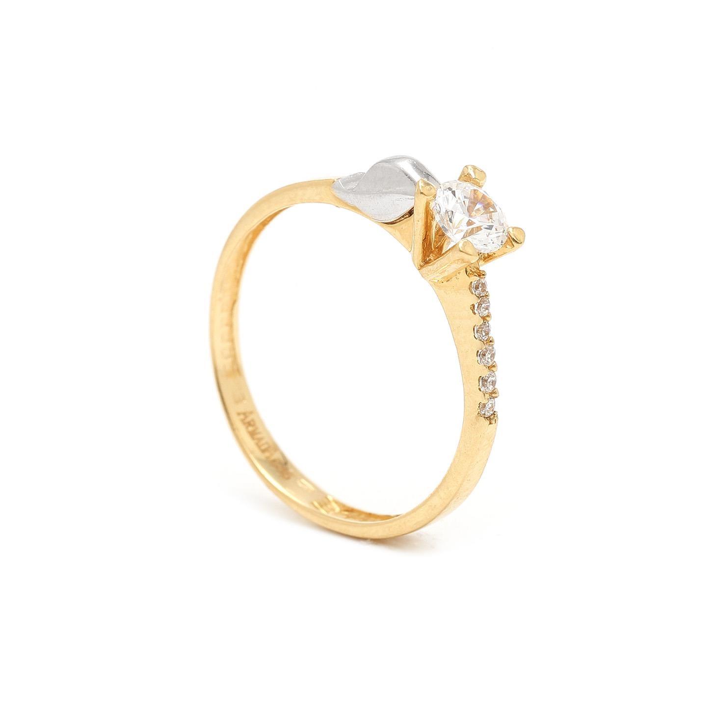 Zlatý zásnubný prsteň EDURNA 7PK00357