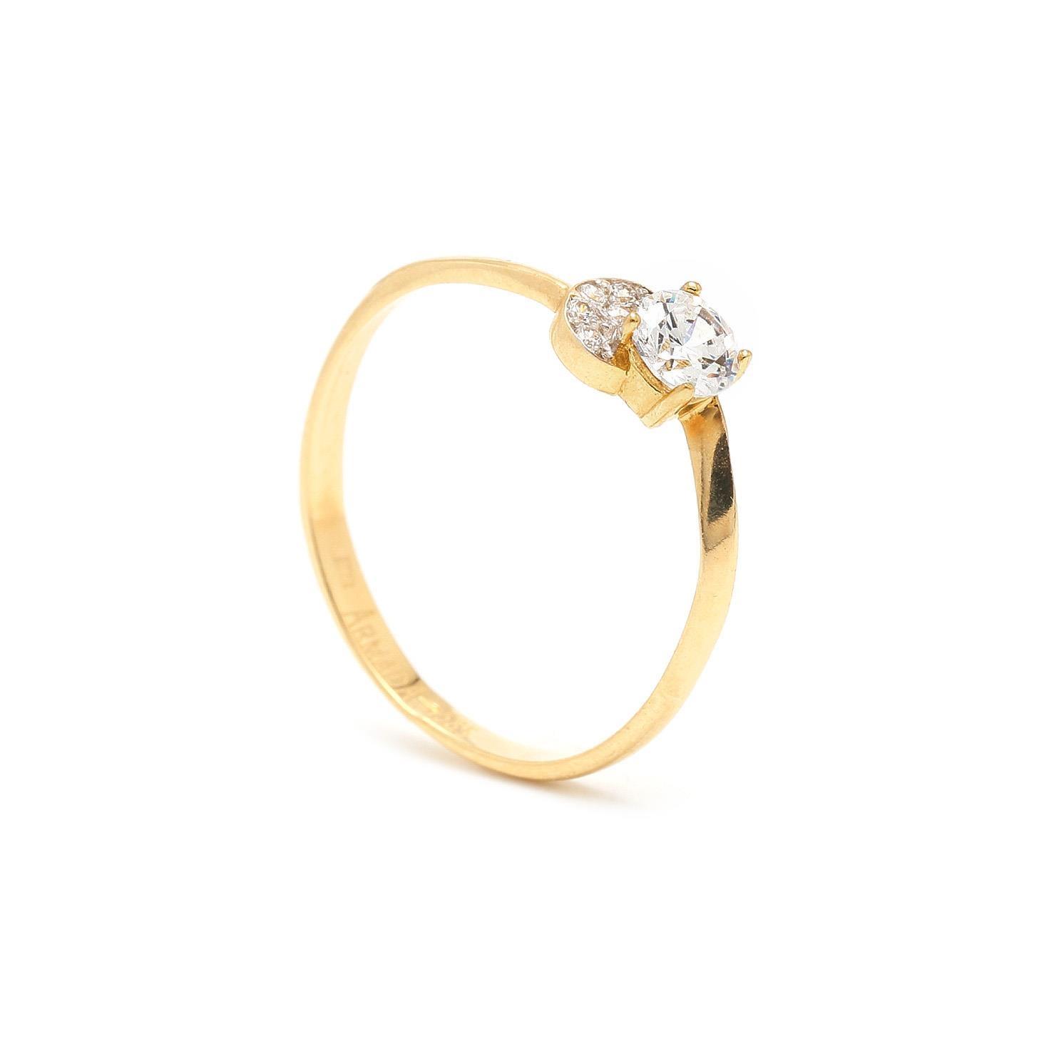 Zlatý zásnubný prsteň ELIZABETE 7PZ00358