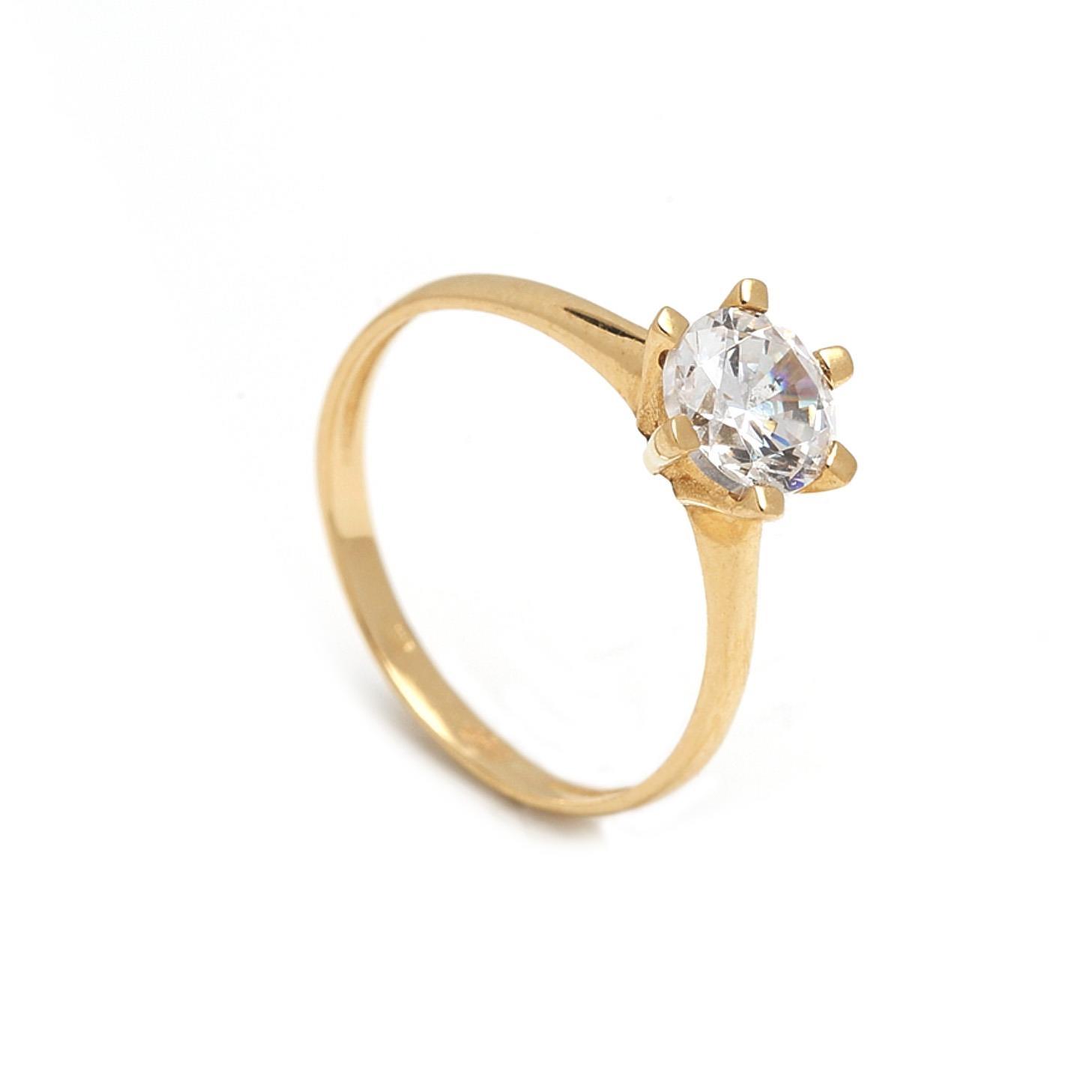 Zlatý zásnubný prsteň GEMMA 1PZ00061