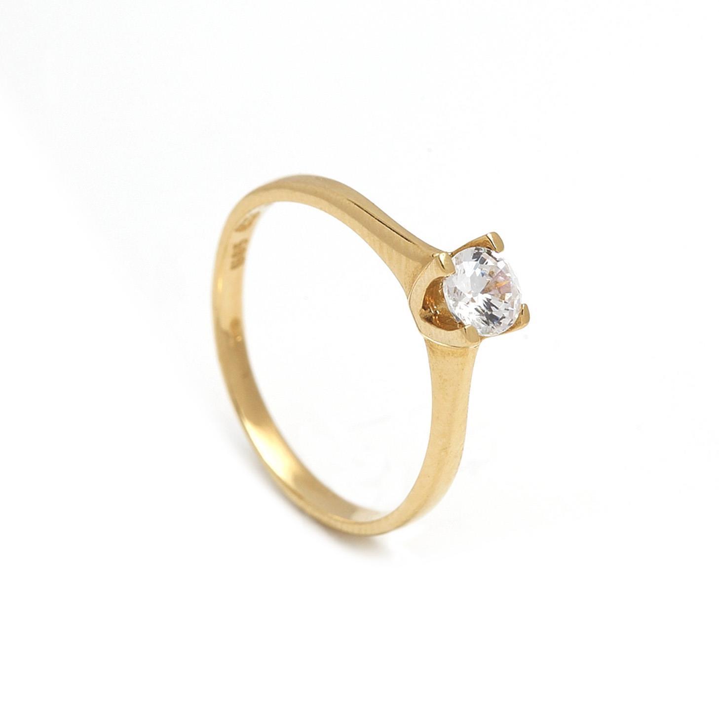 Zlatý zásnubný prsteň GENEVRA 1PZ00062