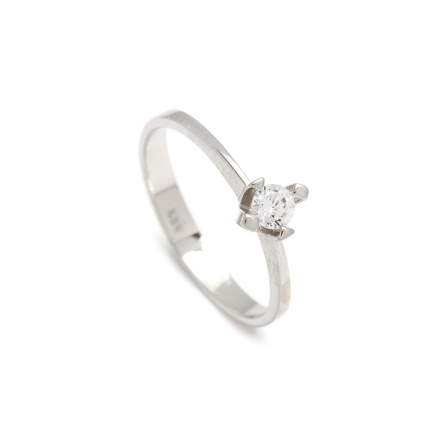 Zlatý zásnubný prsteň GIOIA 1PB00073