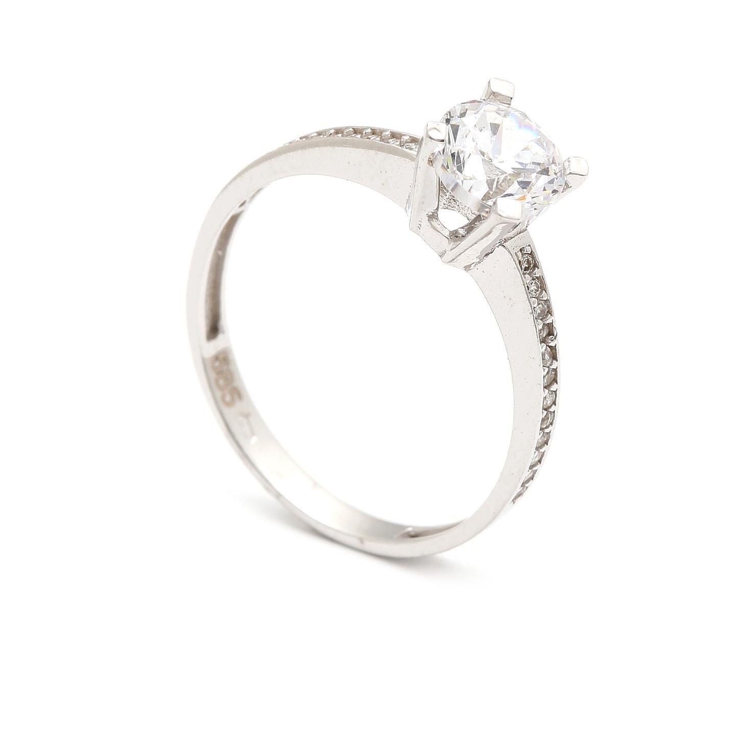 Zlatý zásnubný prsteň JACINTA 4PB00280