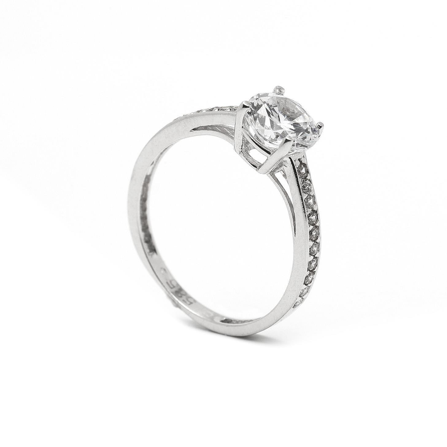 Zlatý zásnubný prsteň JASMINE 7PB00412