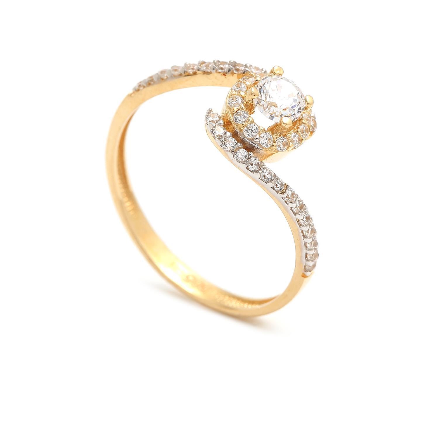 Zlatý zásnubný prsteň KIMIMELA 4PZ00229