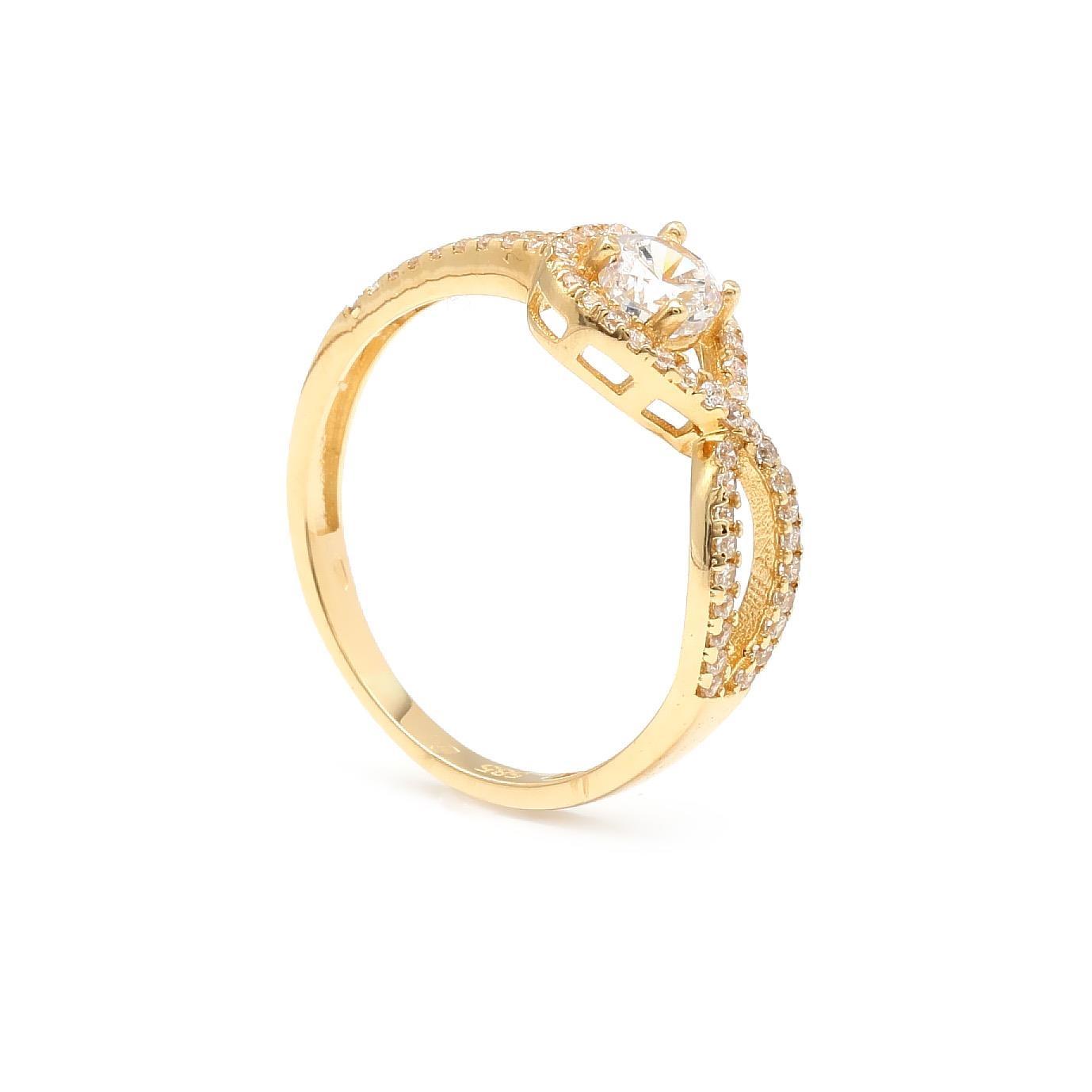 Zlatý zásnubný prsteň KIRSTI 8PZ00375_56I