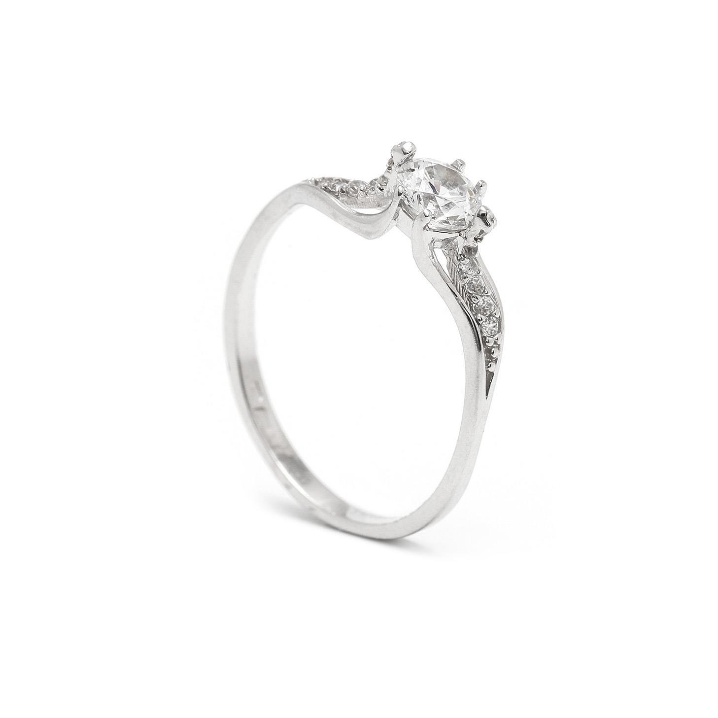 Zlatý zásnubný prsteň MAHALIA 7PB00403