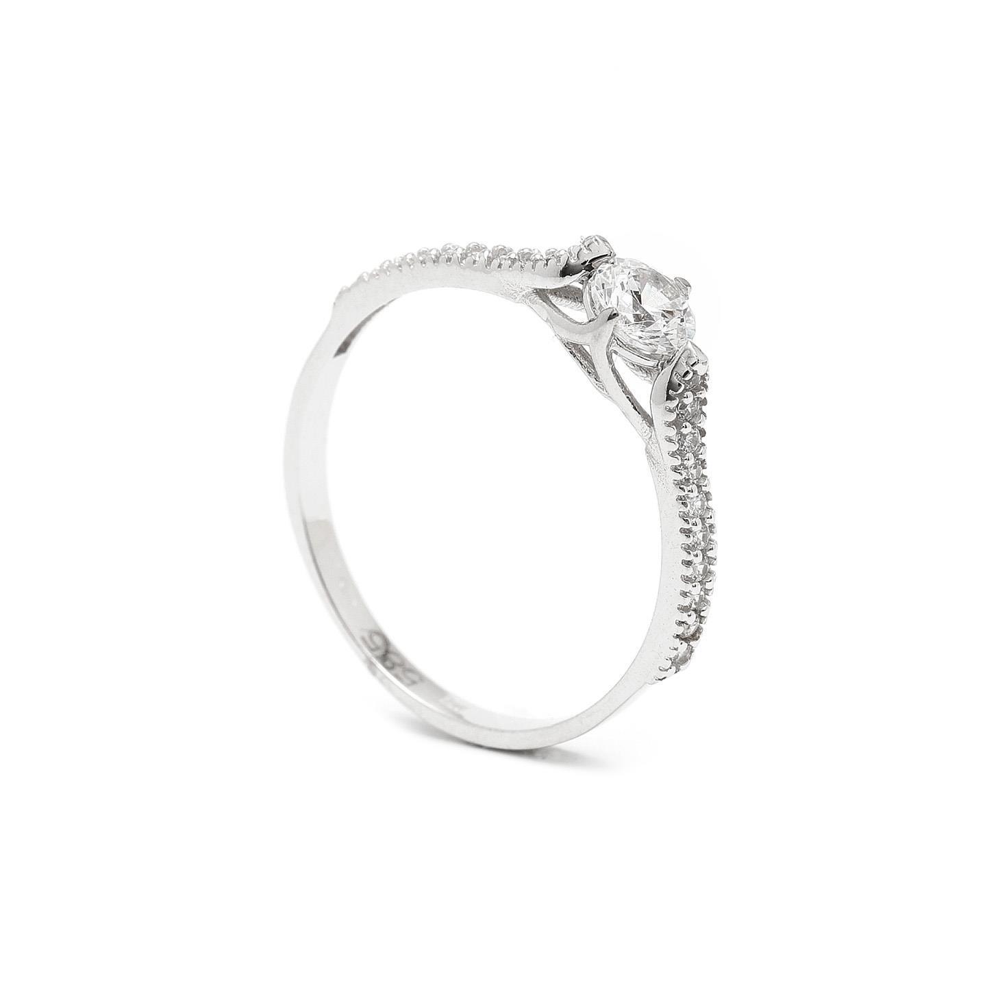 Zlatý zásnubný prsteň NAZANI 7PB00409