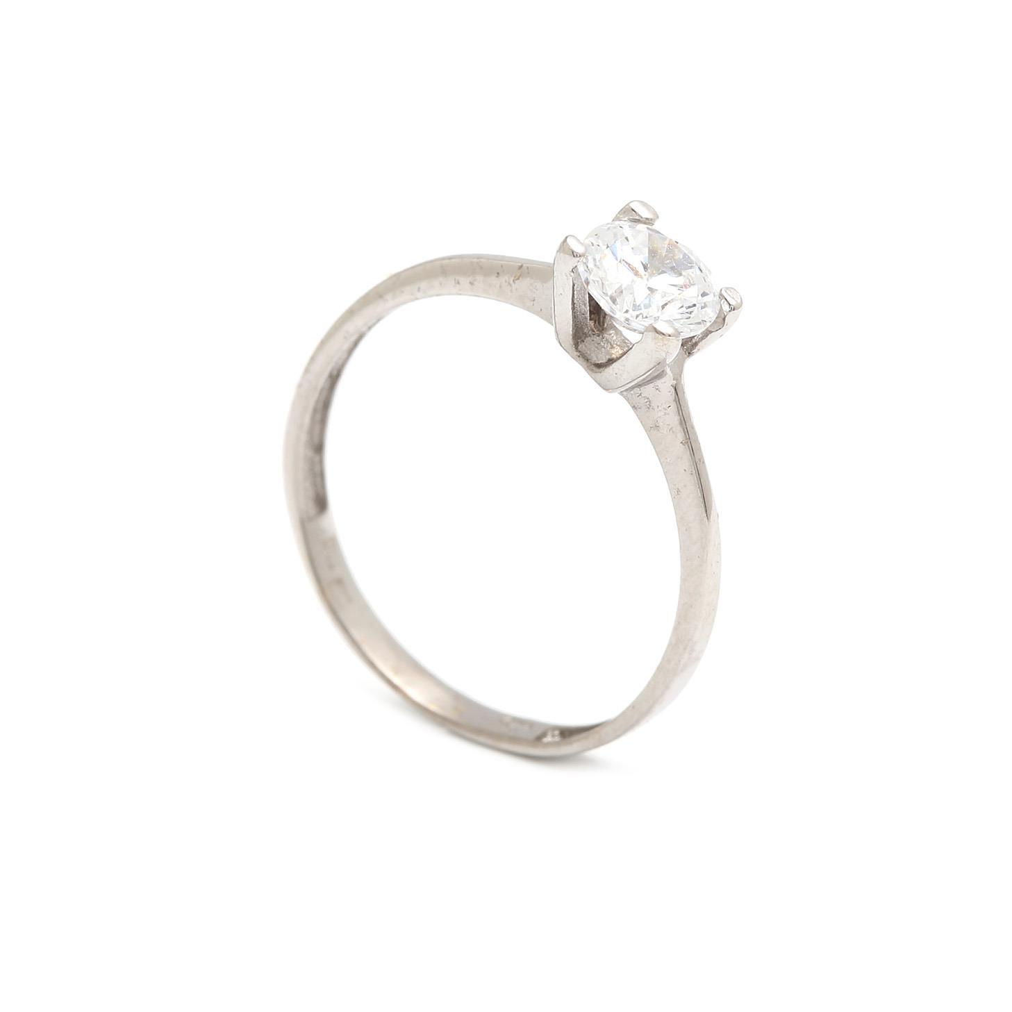 Zlatý zásnubný prsteň NICOTIANA white 2PB00123