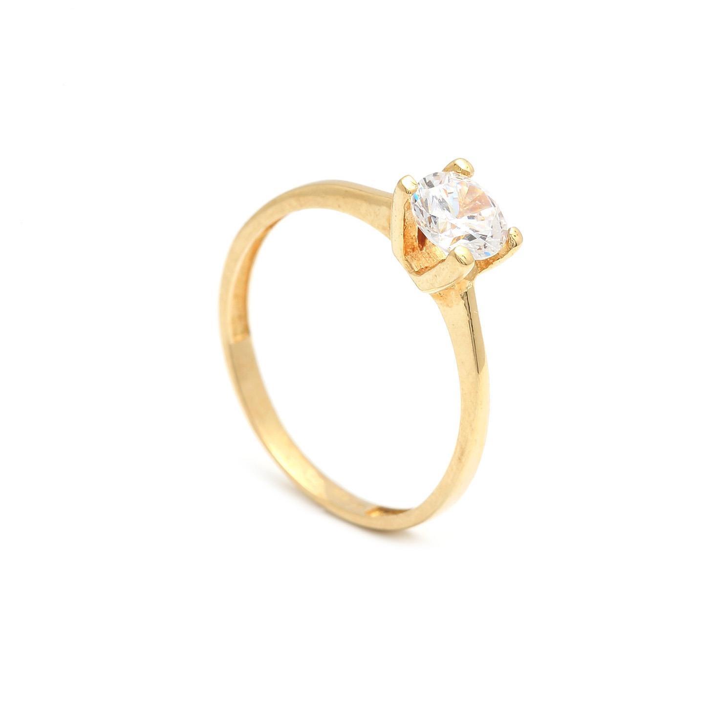 Zlatý zásnubný prsteň NICOTIANA 2PZ00122