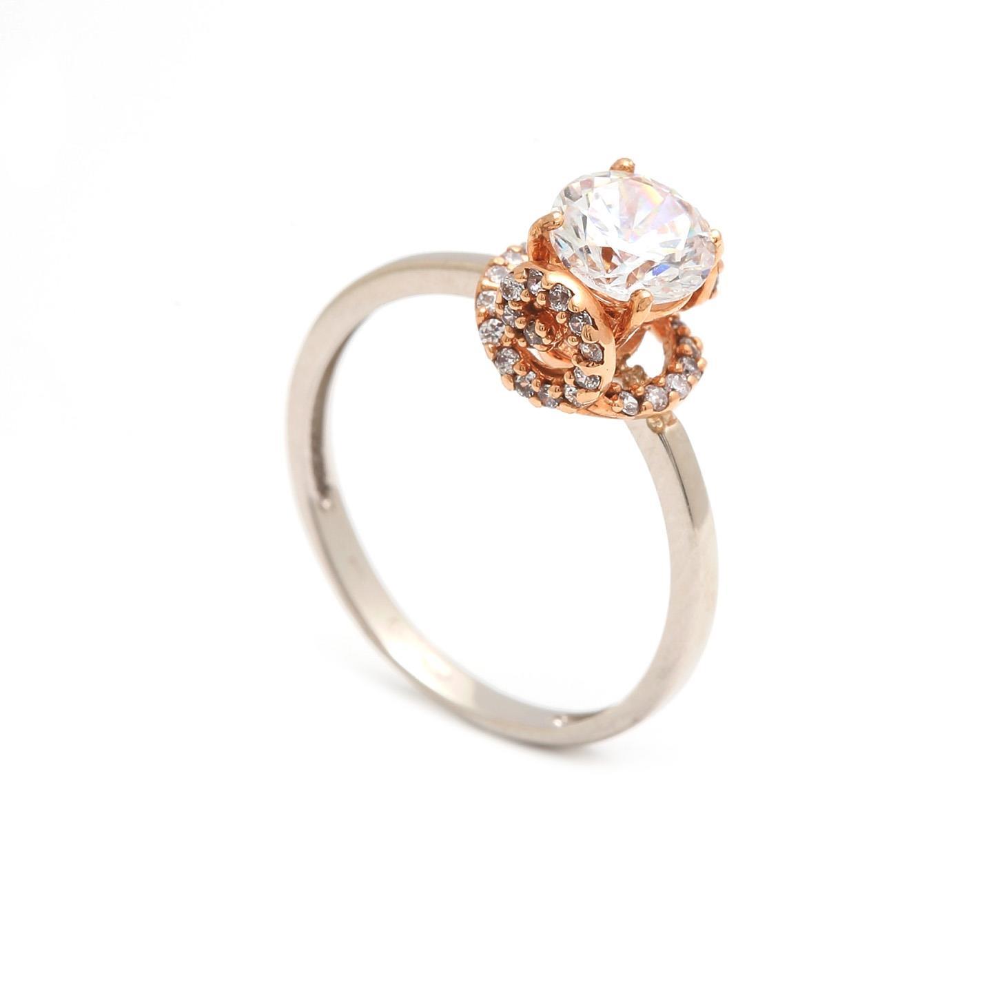 Zlatý zásnubný prsteň OTTAVIA 3PK00132