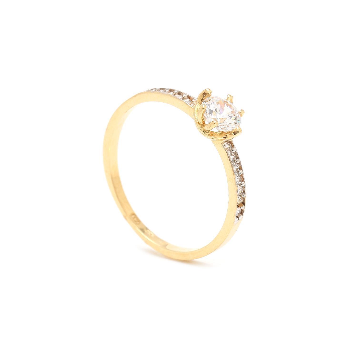 Zlatý zásnubný prsteň OXANA 7PZ00391