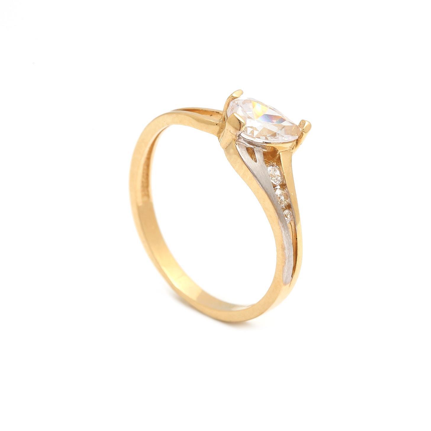 Zlatý zásnubný prsteň PALMIRA 3PK00133